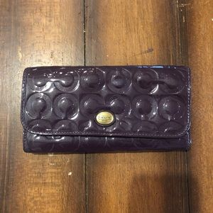 Purple Coach Wallet